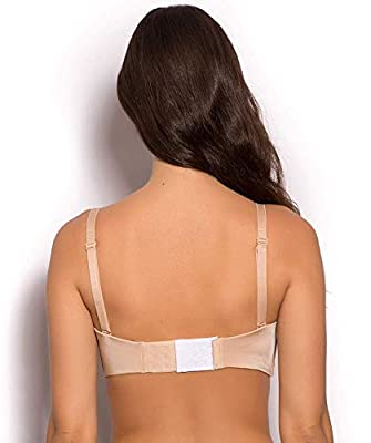 Fabme Women's Plain/Solid Bra Extender (Pack of 3)  - Colour Options
