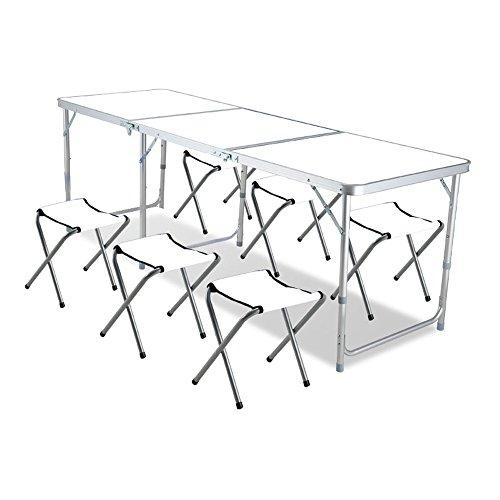 WZLDP Tavolo di stesa Tavolo allungabile esteso | Tavolo pubblicitario per Esterni | Tavolo da Pranzo e sedie Tavolo Rettangolare per attività all'aperto Pieghevole (Design : C)