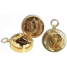 af4c6ae3433e Vidal Regalos Reloj Solar con brujula de Bolsillo Laton 6 cm