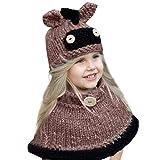 ODJOY-FAN-Inverno caldo Cappuccio Sciarpa Caps Cappello Earflap Fox scialli  di lana lavorato 2ed753c57956