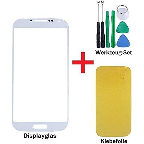 iTech Germany Samsung Galaxy S4 frontal pantalla de cristal táctil Blanco - Juego de reparación de alta calidad para i9500 i9505 LTE con las herramientas y Foil