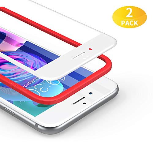BANNIO für Panzerglas für iPhone 6 / iPhone 6S,2 Stück 3D Full Screen Panzerglasfolie Schutzfolie für iPhone 6 / iPhone 6S,9H Härte Displayschutzfolie,Blasenfrei,4,7 Zoll,Weiß