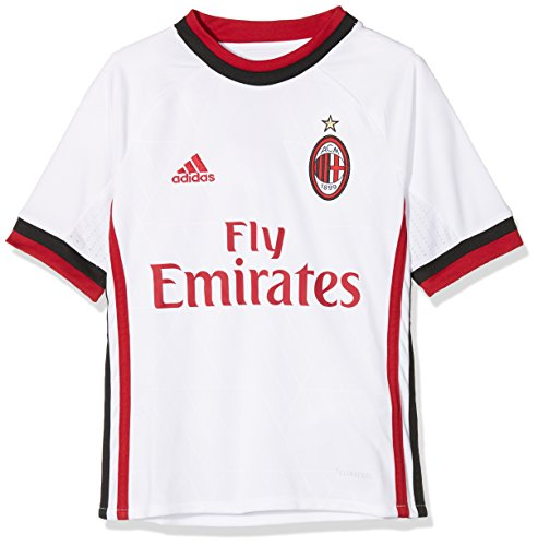 69a50e32071 adidas 2017-2018 AC Milan Away Football Soccer T-Shirt Maglia (Kids)