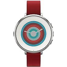 """Pebble Time Round - Smartwatch (14 mm, 1.25"""", Bluetooth, Li-ion), color plateado y rojo"""