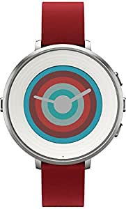 Pebble 14 mm Time Round Smartwatch - Silver/Red