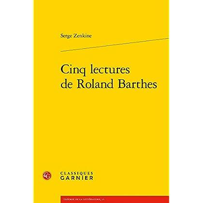 Cinq lectures de Roland Barthes