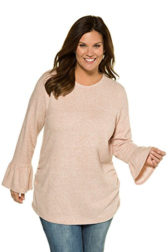 Ulla Popken Femme Grandes tailles Sweat-shirt 715440 rose crème