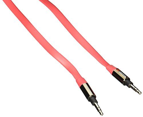 griffin-cable-auxiliaire-plat-de-09-metres-rouge