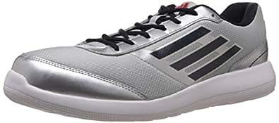 adidas Men's Lunett M Metallic Silver, Night Navy and Scarlet Running Shoes - 10 UK