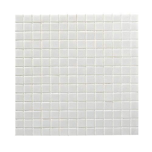 [neu.haus] 10x Mosaikfliesen 1,07qm Weiß Glas Pool Fliesenplatte Fliese Platten Schwimmbad Glasmosaik -