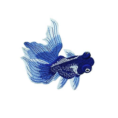 SUNSKYOO Goldfish Patch Tuch Nette Fische Stickerei Muster Reparatur Kleidung Abzeichen DIY Dekoration Nähen Aufkleber, ()