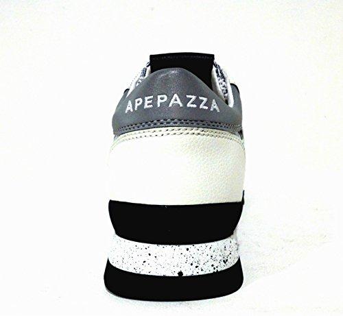 Apepazza Dafne Multicircle, Baskets Basses femme Bianco-Nero