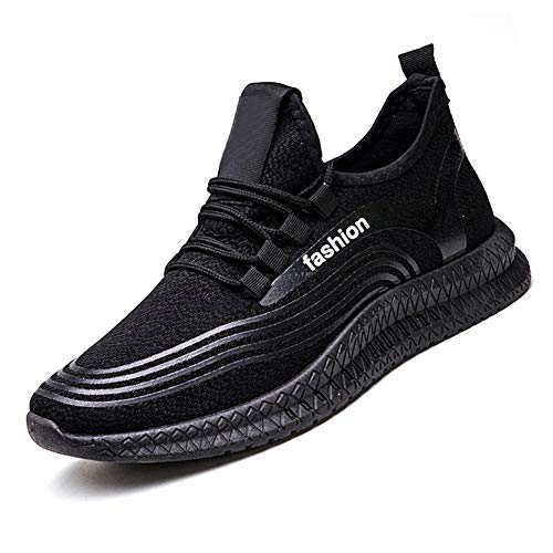 Gizayen Männer Fly Knit Mesh Sneakers Breathable Leichte Anti Slip Casual Outdoor-Schuhe -