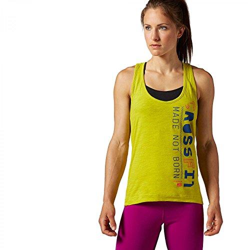 Reebok - Camiseta sin mangas - para mujer verde Vitgrn