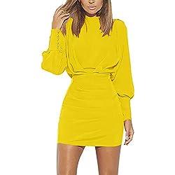 Vectry Vestidos Vestidos Mujer Casual Verano Vestidos Sexys Y Elegantes Moda Mujer 2019 Rebajas Vestidos Vestidos De Mujer Verano Vestidos De Fiesta para Comuniones Vestidos Amarillo