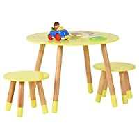 Hartleys Yellow Kids Table and Chairs Set