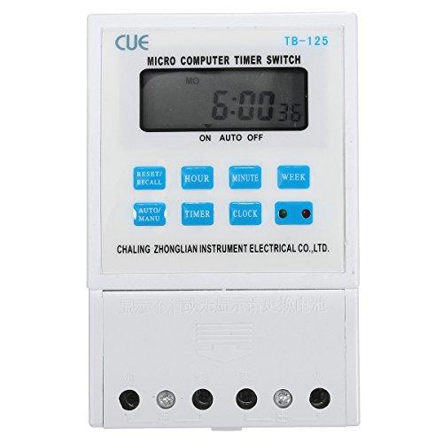 Preisvergleich Produktbild KUNSE 220V 25A LCD Digital Micro Computer Programmierbare Time Clock Timer Schaltrelais