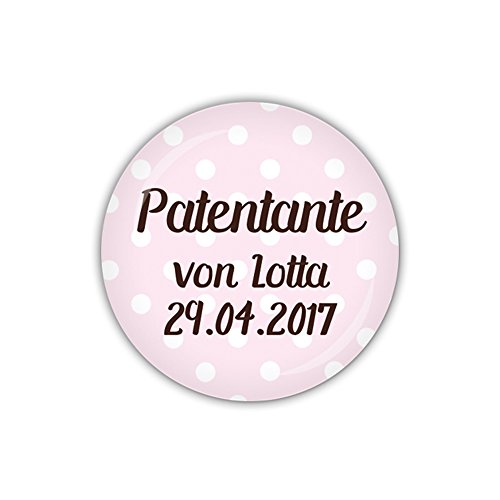 mm Ø DOTS rosa, Patentante personalisiert (Art. PBU256) ()