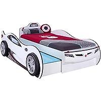 Preisvergleich für Cilek COUPE Ausziehbett Rennfahrerbett Autobett Kinderbett Bett Weiß (ohne Matratze)