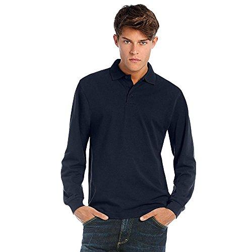 B&C - Longsleeve Poloshirt 'Heavymill' Red