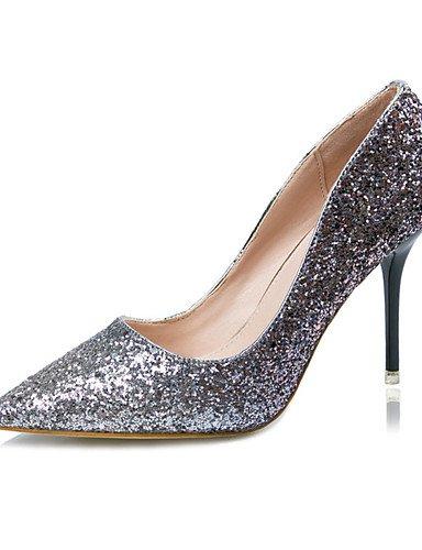 WSS 2016 Chaussures Femme-Décontracté-Bleu / Violet / Rouge / Or-Gros Talon-Talons-Talons-Laine synthétique blue-us7.5 / eu38 / uk5.5 / cn38