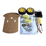 Bobury Kit Box práctica Inteligente del Robot del chasis del Coche codificador de la Velocidad de batería Universal del Sistema de Rueda Compatible para Arduino