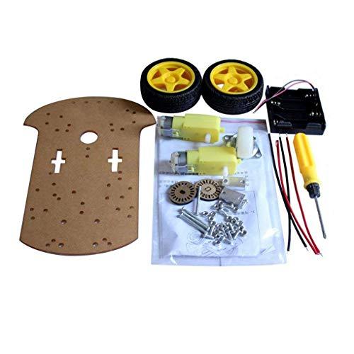 Bobury Praktische intelligente Roboter-Auto Chassis Kit Geschwindigkeit Encoder Batteriebox Universal-Wheel Set Kompatibel für Arduino