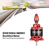 WOSOSYEYO DXW D2814 1000KV 3-4 S Außenborder Brushless Motor für RC Fixed Wing Flugzeug, rot