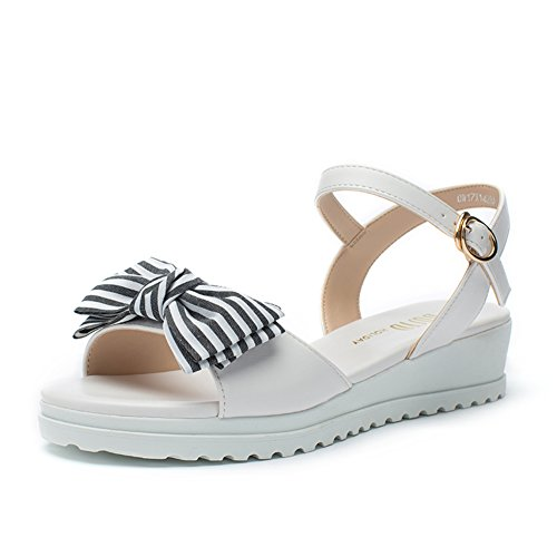 Chaussures Sport Dames Casual,Étudiant Sweet Butterfly Noeud Chaussure Talon, Wedge Sandals A