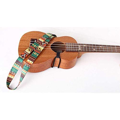 Ritapreaty - Cinturón para Guitarra (Estilo étnico, Correa Colorida para ukelelele, Cinta de Transferencia térmica, Resistente, Longitud Ajustable)