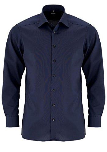 OLYMP Herren Hemd Modern Fit Langarm Marine