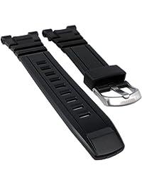 Calypso watches Reloj de pulsera banda de plástico banda negro de repuesto para modelo k5672K5673K5674