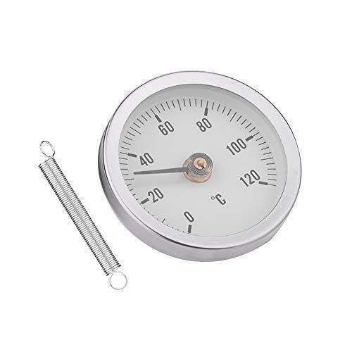 Eboxer 63mm Wasserdichte staubdichte IP55 0-120 ° Bimetall-Temperatur-Frühlingsthermometer-Rohr-Oberfläche