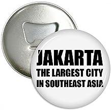 Yakarta mayor ciudad el sudeste de Asia redondo abridor de botellas nevera Imán Pins Badge botón
