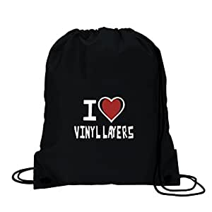 I love vinyle layer sac de sport