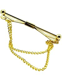 Vococal - Hombre Camiseta Collar Clip Barra Pin Broche con Cadena