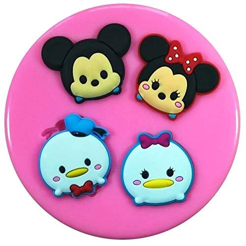 Fairie Blessings Tsum Silikonform Mickey und Minnie Maus, Donald und Gänseblümchen, für Kuchendekoration, Kuchen, Cupcakes, Zuckerguss-Werkzeug