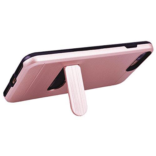 """WE LOVE CASE iPhone 7 Plus / iPhone 8 Plus Hülle Stand und Karte Funktion Zeichnung iPhone 7 Plus / iPhone 8 Plus 5,5"""" Hülle Minze Grün Schutzhülle Handyhülle Handytasche Handycover PC Harte Case Anti Rose gold"""