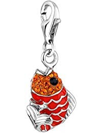 Nena Lina Charm pescado colgante en plata de ley 925para todo tipo de Incluye Anilla 716246–060