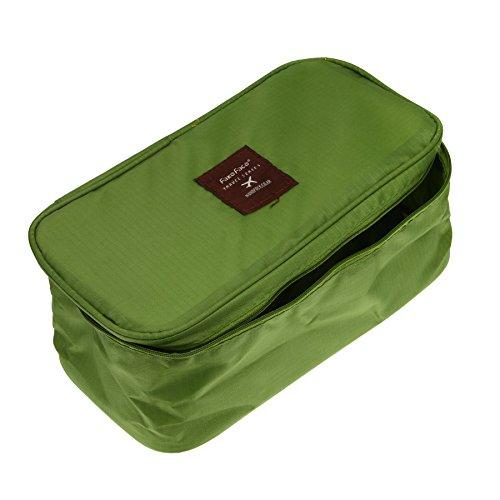 BXT Sac de Rangement Bra Underwear Sac à Cosmétiques Etanche Toilette Portable Sac de Voyage Mode Beauté Sacs à Main Sac de Maquillage Sac de Stockage pour Femmes Couleur- Vert