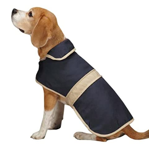 Casual Canine Barn Coat for Dogs, 12 Small, Navy by