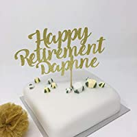 Personalised Retirement Cake Topper with Name. Retirement party, any color. Retirement decorations, job party ideas, corporation party