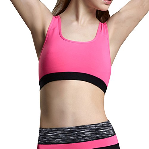 Zhhlinyuan Womens Yoga Sports Quick-dry Bra Racerback Level Support Maximum Powerful pink