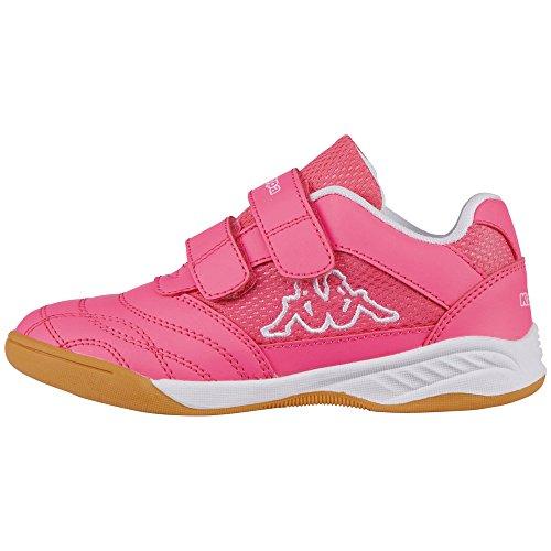 Kappa Kickoff, Scape per Sport Indoor Bambina, Rosa (Pink/White 2210), 30 EU