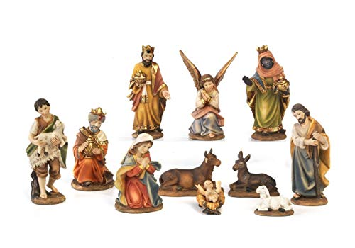 Paben presepe completo natività personaggi 7 cm, 11 soggetti in resina, by