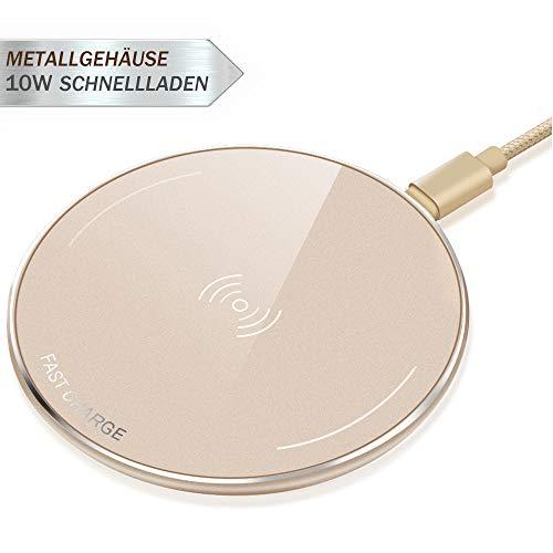LUXSURE Qi Wireless Charger Schnell Induktion Ladegerät für iPhone XS/xs max/xr/x/8/8 Plus, Qi Ladestation Metallgehäuse für Samsung Galaxy 9/s9/s9+/s8/Note 8/s7/s7 edge/S6/S6 Edge