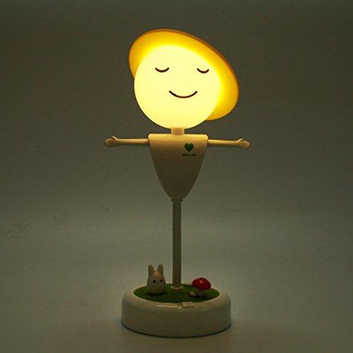 elscheuche LED Nachtlicht Aufladbar Dimmbar Nachttischlampe Bewegliches Kinderlampe Tischlampe Wiederaufladbare Schreibtischlampe Touch Sensor Control Tischleuchte Leselampe - Gelb (Vogelscheuche Baby)