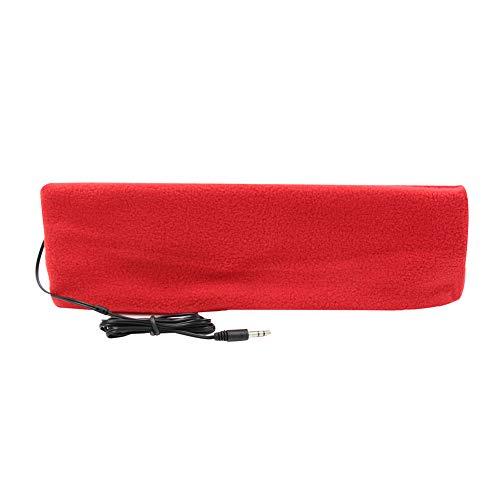 örer Stirnband Kopfhörer Ultra Dünn Kopfhörer die meisten Bequeme Kopfhörer für Schlafen Air Travel Workout Schlaflosigkeit, rot ()
