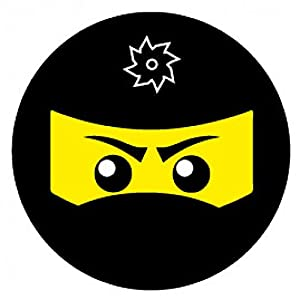 1art1 109112 Gaming - Ninja Icon, Schwarz Poster-Sticker Tattoo Aufkleber 9 x 9 cm