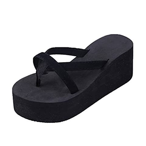 Lalang Women Wedge Flip Flop Flatform Thong Slippers
